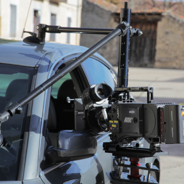 Camera Car Mount fixed to the sideo¡ of the car