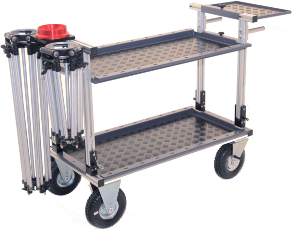 Lince Camera Cart with tripod holder, mitchell support and cart extension plate